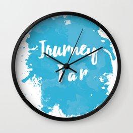 Journey Far Paint Splatter Wall Clock
