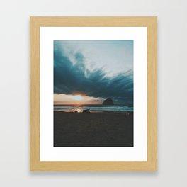 Golden Hour at Cape Kiwanda Framed Art Print