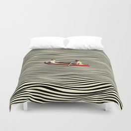Illusionary Boat Ride Duvet Cover