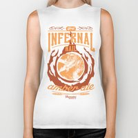 ale giorgini Biker Tanks featuring Infernal Nail Amber Ale | FFXIV by srahhh