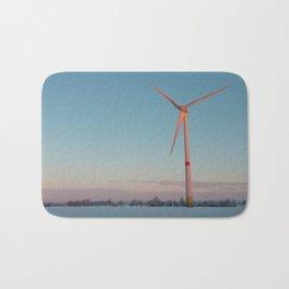 Wind Turbine at dawn Bath Mat