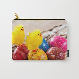 Easter eggss and fluffy chickens Carry-All Pouch
