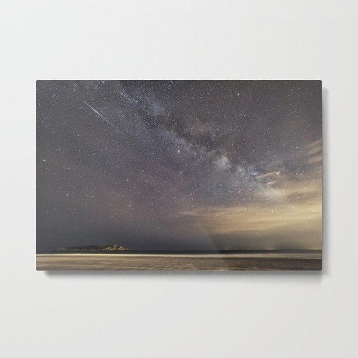 Shooting stars and the Milkyway Metal Print