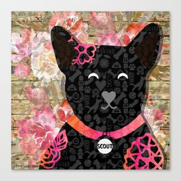Woof to Wag-Scout Canvas Print