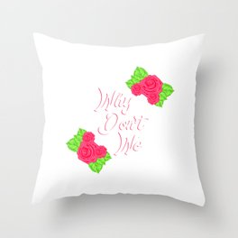"Engagement Shirt For Soon To Be Brides ""Why Don't We"" T-shirt Design Marriage Relationship Proposal Throw Pillow"