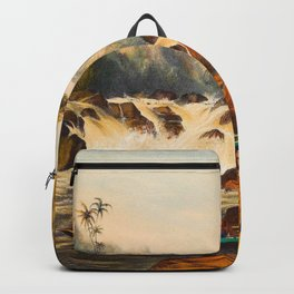 Illustrations Of Guyana South America Natural Scenes Hand Drawn Backpack