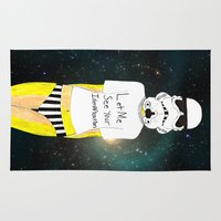storm trooper Area & Throw Rugs featuring Storm trooper-fan art by Juana Andres