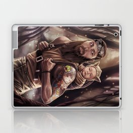 Father and Son Swamp Training Laptop & iPad Skin