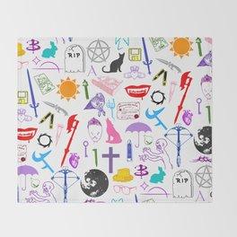Buffy Symbology, Multi-color / Rainbow / PRIDE! Throw Blanket