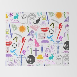 Buffy Symbology, Multi-color / Rainbow / PRIDE! Throw Blanket