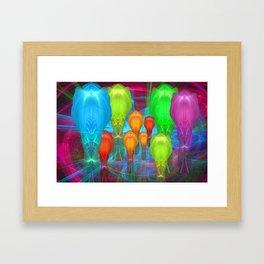 Alien Family Framed Art Print
