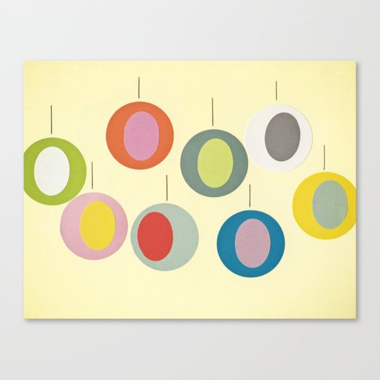 Christmas Baubles Canvas Print