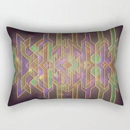 Space Travel Logo Rectangular Pillow