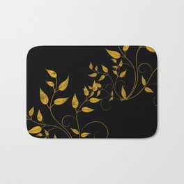 TREES VINES AND LEAVES OF GOLD Bath Mat