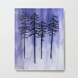 Lavender Pine Trees Metal Print
