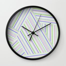 Abstract striped pattern. Wall Clock