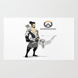 hanzo the archer Rug
