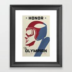 Honor the Olympian Framed Art Print