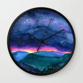 Good Night Smoky Mountains Wall Clock