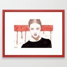 Stripes Suit Her Framed Art Print