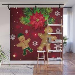gingerbread man cookies Wall Mural