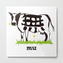 Mu cow Metal Print