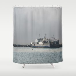 Old Shipwreck Shower Curtain