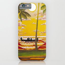 Surf Hawaii, Outrigger, Hawaiian Sunset Portrait iPhone Case