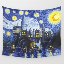 Starry Night At Hogwarts Wall Tapestry
