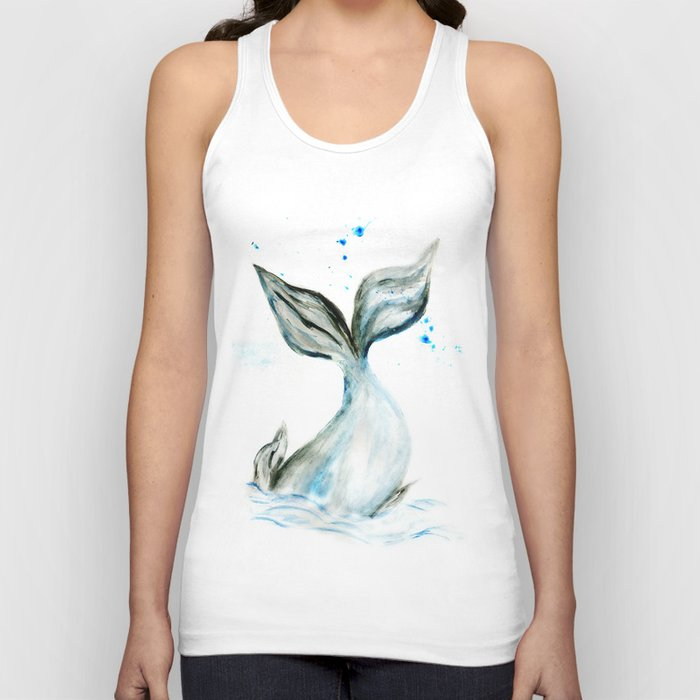 Whale tail Unisex Tanktop