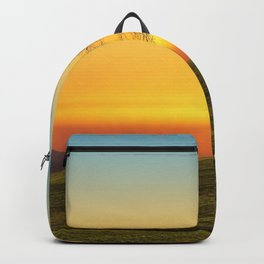 Lonely Tree On Hillside At Sunset Ultra HD Backpack