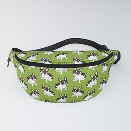 Cute double hooded pied French Bulldog wants your attention Fanny Pack