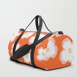 Evening Primrose on Tangerine Duffle Bag