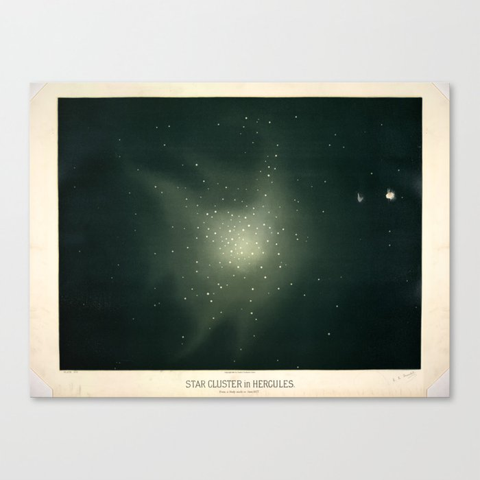 Star clusters in Hercules by Étienne Léopold Trouvelot (1877) Leinwanddruck