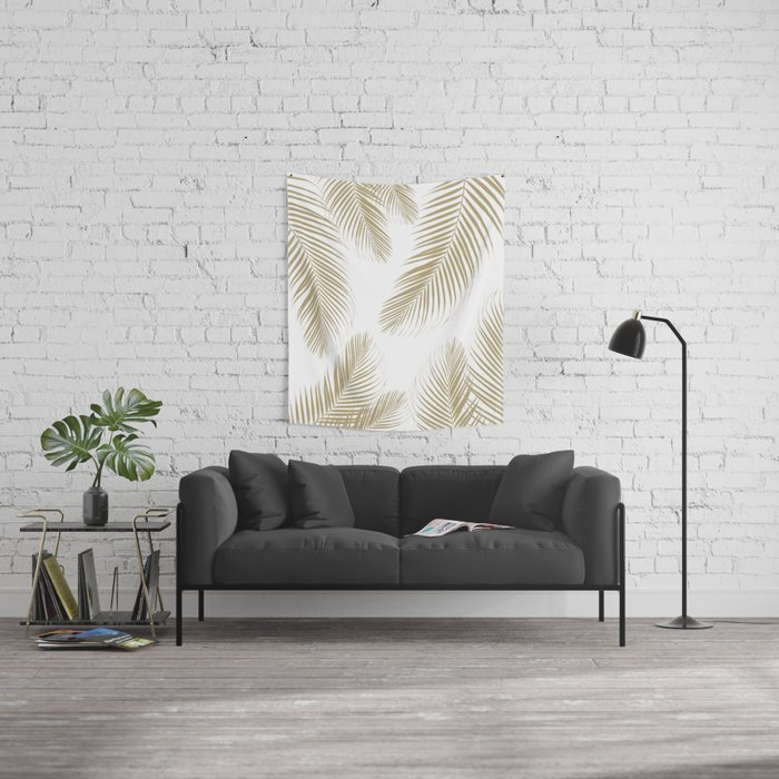 Palm Leaves - Gold Cali Vibes #3 #tropical #decor #art #society6 Wall Tapestry