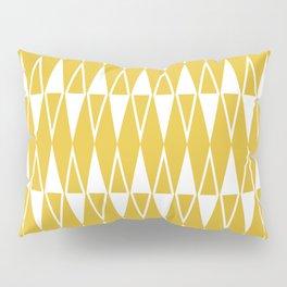 Mid Century Modern Diamond Pattern Mustard Yellow 234 Pillow Sham