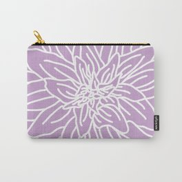 Abstract Flower Purple Lavender Carry-All Pouch