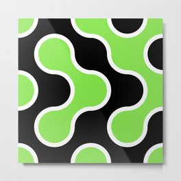 Black and Green Organics Metal Print