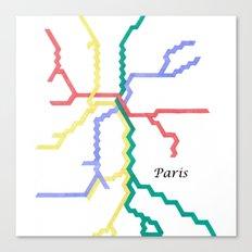 Paris Metro Square Canvas Print