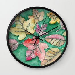 Fall Leaves Fall Wall Clock
