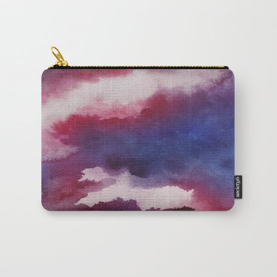 Clouds - abstract watercolor 01 Carry-All Pouch