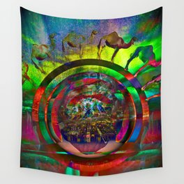 Cosmic Spin Wall Tapestry