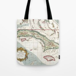 Vintage Map of Cuba and Jamaica (1763) Tote Bag