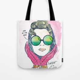 Hipster lady Tote Bag