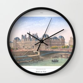 Paris art print Paris Decor office decoration vintage decor HOTEL DE VILLE of Paris Wall Clock