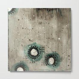 Sepia Circles Low Metal Print