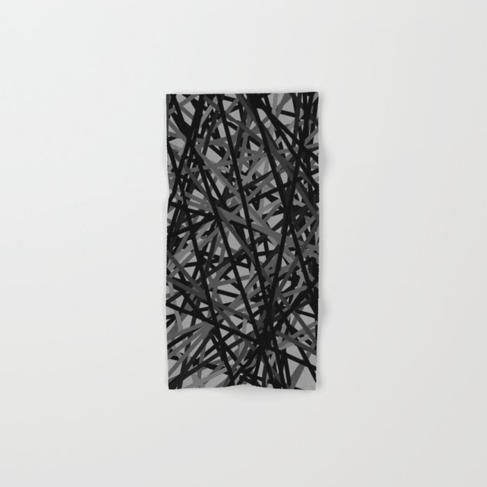 Kerplunk Extended Black and White Hand & Bath Towel