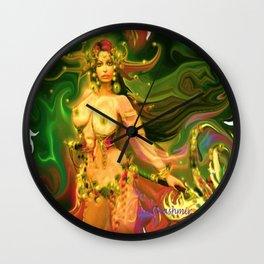 Nude warrior goddess ladykashmir  Wall Clock