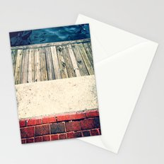 Red White and Blue City Textures Stationery Cards