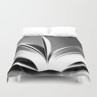 book Duvet Covers featuring Book by Rose Etiennette